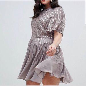 ASOS Curve sequin dress
